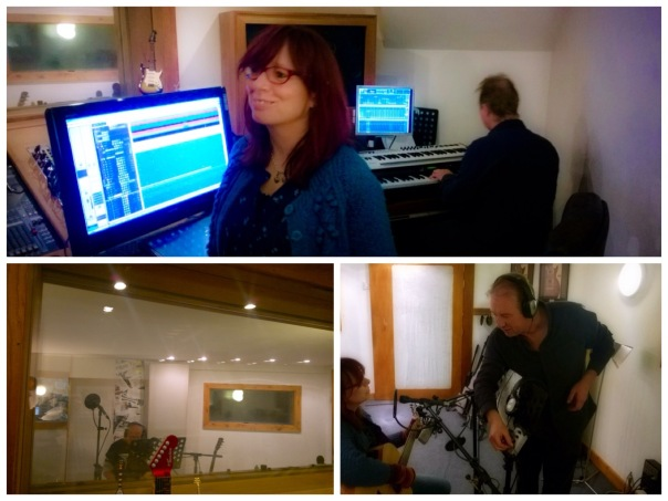 Recording in the Studio with Andy Constable and Al Steele.